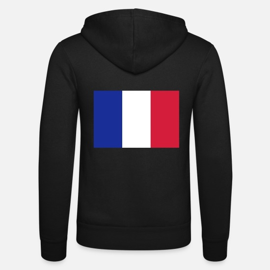 Symbol  Hoodies & Sweatshirts - France flag - Unisex Zip Hoodie black