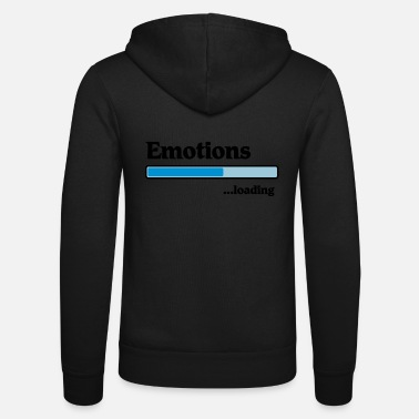 Emotions emotions loading... - Unisex zip hoodie