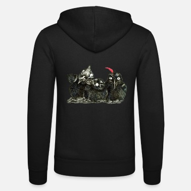 three young crows - Unisex Zip Hoodie