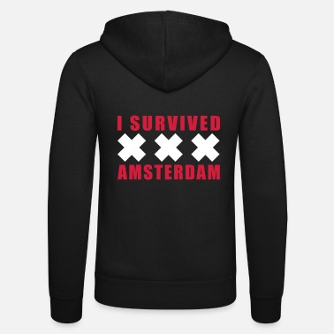 I Survived Amsterdam Holland XXX - Unisex Zip Hoodie