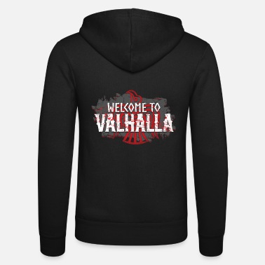 Welcome To Valhalla - Felpa con zip unisex