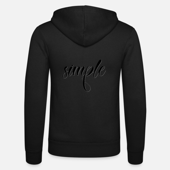 Fête Sweat-shirts - simple - Veste à capuche unisexe noir