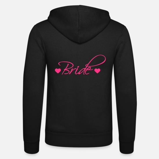 Party Hoodies & Sweatshirts - Bride - Unisex Zip Hoodie black