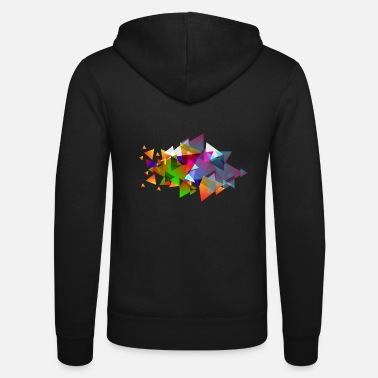 Hipster Hipster triangles - Unisex Zip Hoodie