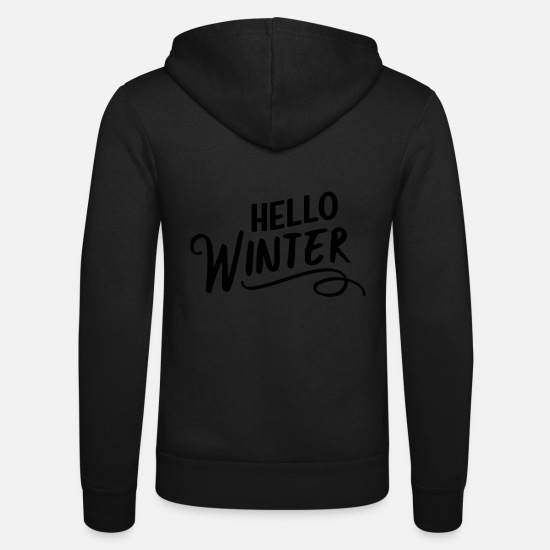 Morning Hoodies & Sweatshirts - Hello Winter - Unisex Zip Hoodie black
