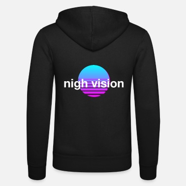 Night Vision Night view retro - Unisex Zip Hoodie