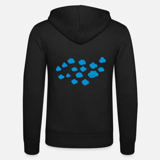 Cloud Hoodies & Sweatshirts - clouds - Unisex Zip Hoodie black
