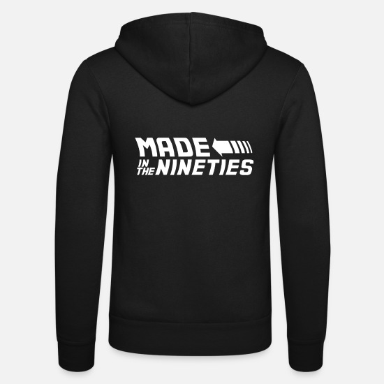 Birthday Pullover & Hoodies - Made In The Nineties Neunziger 90s 90's - Unisex Kapuzenjacke Schwarz