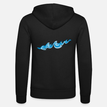 Sea Underwear Waves 2C - Unisex Zip Hoodie
