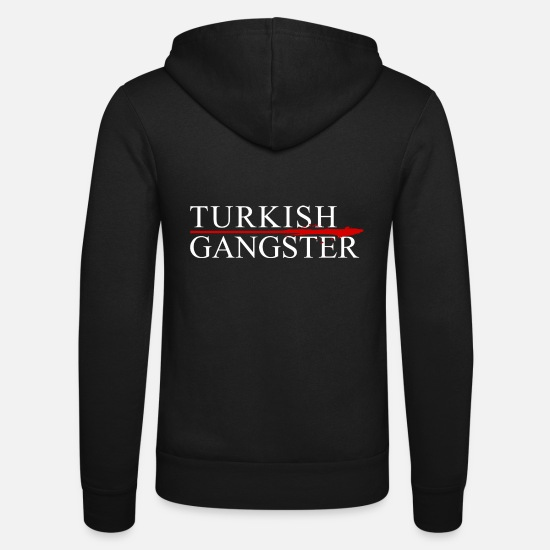 Turkish Hoodies & Sweatshirts - Turkish Gangster - Unisex Zip Hoodie black