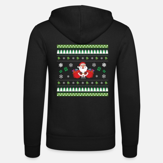 Ugly Hoodies & Sweatshirts - Ugly Christmas - Unisex Zip Hoodie black