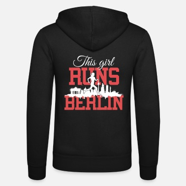 Berlin This girl runs Berlin Marathon Running Shirt white - Unisex Zip Hoodie