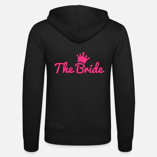 Bride Hoodies & Sweatshirts - bride - Unisex Zip Hoodie black