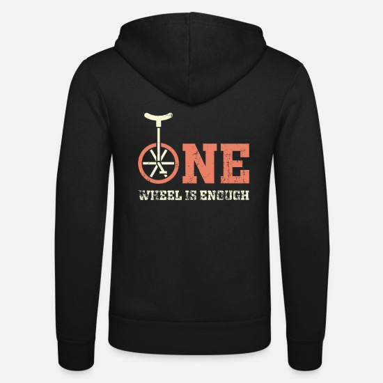 Gift Idea Hoodies & Sweatshirts - Unicycle wheel - Unisex Zip Hoodie black