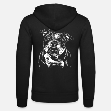 Bulldog OLD ENGLISH BULLDOG OEB Hundeportræt Wilsigns - Unisex hættejakke