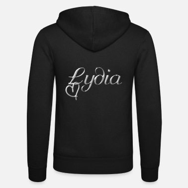 Name Lydia name first name name day - Unisex Zip Hoodie