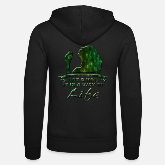 Cannabis Hoodies & Sweatshirts - cannabis - Unisex Zip Hoodie black