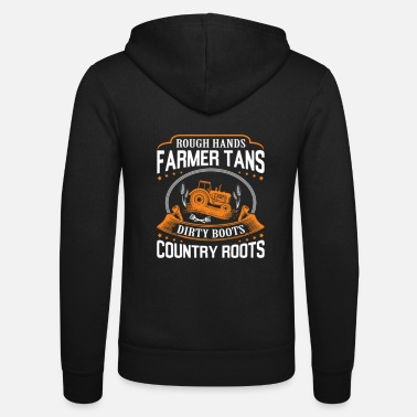 Funny farmer farmer farming farm - Unisex Hooded Jacket by Bella + Canvas