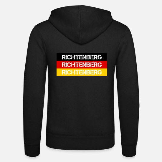 Federal Republic Of Germany Hoodies & Sweatshirts - STADT RICHTENBERG, GERMANY - Unisex Zip Hoodie black