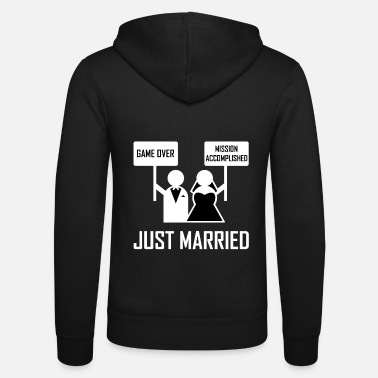 Game Over Just Married Bachelor Party Game Over - Unisex Zip Hoodie