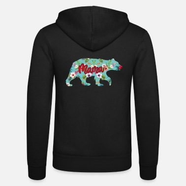Blue Collar Mama Bear Blue Floral - Zip hoodie unisex
