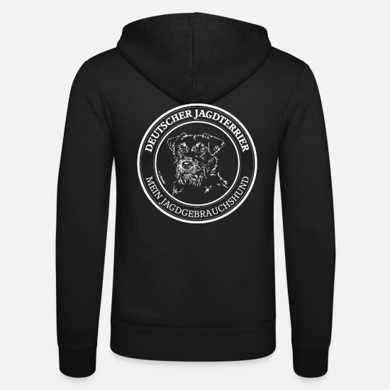 Dog Owner Hoodies & Sweatshirts - GERMAN HUNTING TERRIER hunting dog Wilsign - Unisex Zip Hoodie black