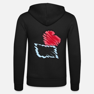 Mail with Heart - Chaqueta con capucha unisex