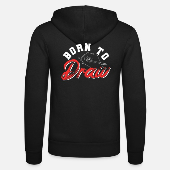 Painter Hoodies & Sweatshirts - To draw - Unisex Zip Hoodie black