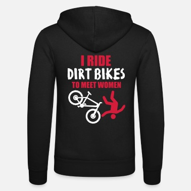 Bike Biker Dirt Bike Downhill Bike - Unisex hættejakke fra Bella + Canvas