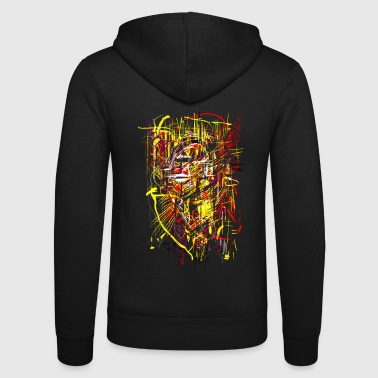 Aztec king - Unisex Hooded Jacket by Bella + Canvas