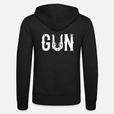 Dad Guns Gun - Partner motif for father, dad - Unisex Zip Hoodie