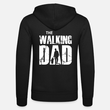Daddy The Walking Dad (white) - Unisex Zip Hoodie