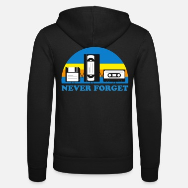 NEVER FORGET CASSETTES and DISCS - Unisex Zip Hoodie