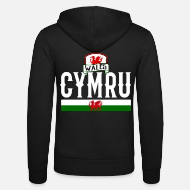 Wales Wales dragon - Unisex Hooded Jacket by Bella + Canvas