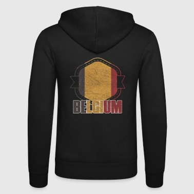 Belgium national colors nation - Unisex Hooded Jacket by Bella + Canvas