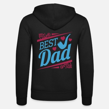 Best Father Best Father Father's Day - Unisex Hooded Jacket by Bella + Canvas