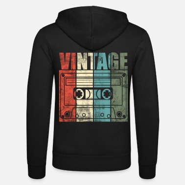Music Is Life Musique Cassette Vintage Old School Music is Life - Veste à capuche unisexe