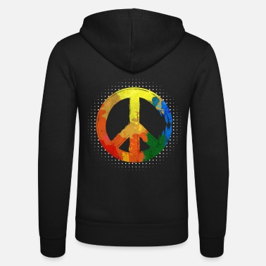 Hippie Hippie Hippie Movement Peace Movement Peace - Felpa con zip unisex