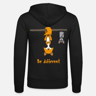 Different Be Different Fox Bat Funny Gift - Unisex Zip Hoodie