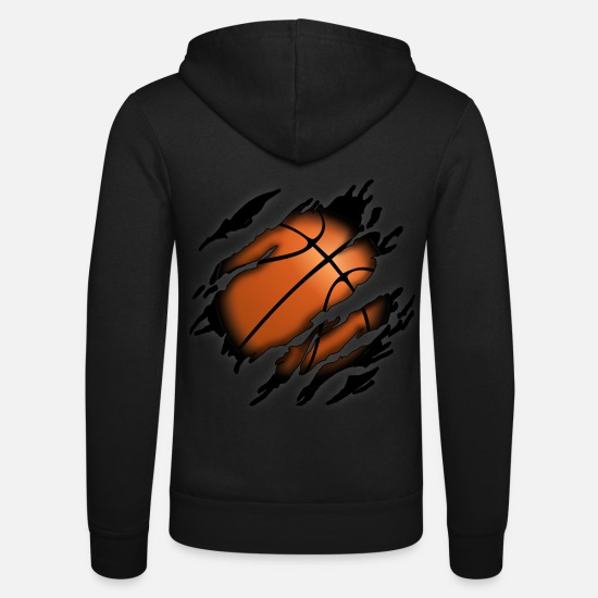 Basketball Sweat-shirts - Basketball en moi - Veste à capuche unisexe noir