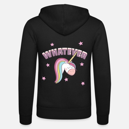 Mönster Tröjor & hoodies - VAD UNICORN COMIC MAMAS FAVORIT bebisfödelse - Zip hoodie unisex svart