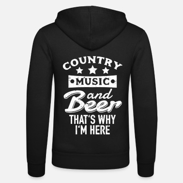 Country Country Music and Beer - Unisex hettejakke