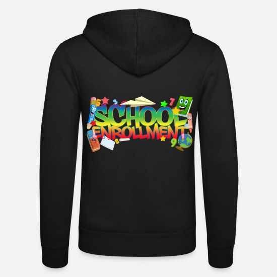 Gift Idea Hoodies & Sweatshirts - School enrollment - school enrollment - Unisex Zip Hoodie black