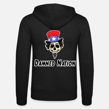 Anti Imperialism USA anti america skull condemned evil nation - Unisex Zip Hoodie