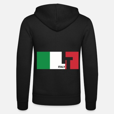 Italian Flag Italy flag flag Italian gift - Unisex Hooded Jacket by Bella + Canvas