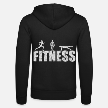 Fitness gym workout sport workout fit gift - Unisex Zip Hoodie