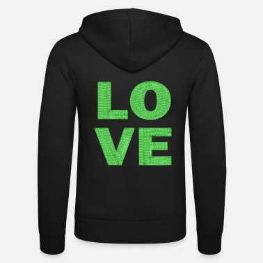 love light green lace - Unisex Zip Hoodie