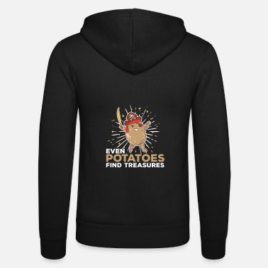 Roots Captain Potatoes Funny Potato Ship Pirate Treasure - Unisex Zip Hoodie