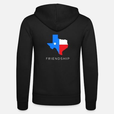 Home Texan friendship design for fans of the lone - Unisex Zip Hoodie
