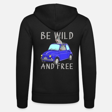 Wild Wild Boar - Be wild and free - Unisex Zip Hoodie